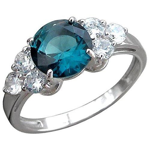 Фото - Эстет Кольцо с кристаллом swarovski и фианитами из серебра Н12К256607, размер 17 эстет кольцо с кристаллом swarovski и фианитами из серебра с22к250029 размер 17 5