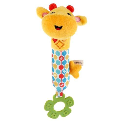 Прорезыватель-погремушка Fisher-Price Пищалка Жираф желтый/зеленый