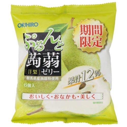 Желе Orihiro из конняку Груша 0%, 6 шт.