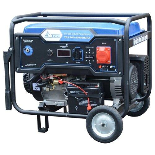 Фото - Бензиновый генератор ТСС SGG 6000EH3NA (6000 Вт) бензиновый генератор тсс sgg 5000 eh 5000 вт