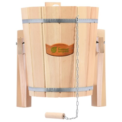 Банные штучки Русский душ с пластиковой вставкой 14 л бежевый ушат липовый банные штучки шайка с нержавеющей вставкой 10 л