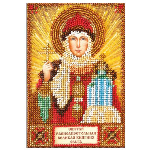 ABRIS ART Набор для вышивания бисером Святая Ольга 10 х 15 см (ААМ-011)