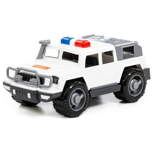 Фото - Внедорожник Полесье патрульный Разведчик (79190) белый/серый полесье набор игрушек для песочницы 468 цвет в ассортименте