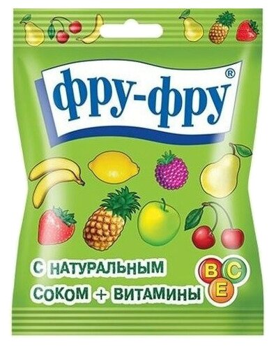 Мармелад фру-фру жевательный фрукты-ягоды 30,0