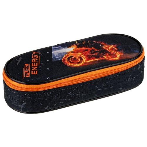 Купить Berlingo Пенал Energy (PM04624) черный/оранжевый, Пеналы