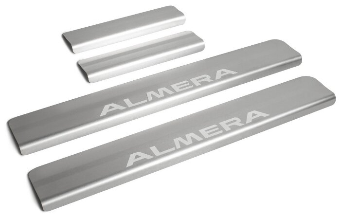 Накладки на внешние пороги для Nissan Almera G15 (2013-2018) RIVAL NP.4104.3 (комплект 4 шт.)