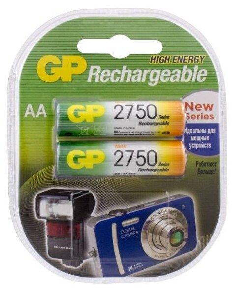 Аккумулятор Ni-Mh 2750 мА·ч GP Rechargeable 2750 Series AA