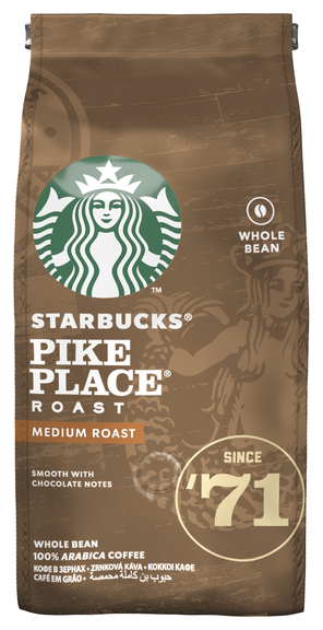 Купить Кофе в зернах Starbucks Pike Place Roast, арабика, 200 г по низкой цене с доставкой из Яндекс.Маркета