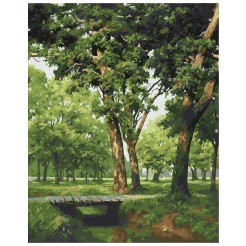 Картина по номерам Мостик в лесу, 40х50 см картина по номерам 40х50 см леопард в лесу gx8340