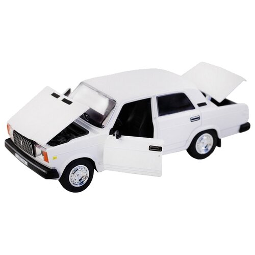 Легковой автомобиль Автопанорама ВАЗ 2107 1:24 белый легковой автомобиль автопанорама мировые легенды ваз 2104 1 24 бежевый