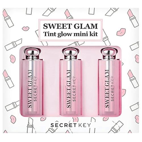 Secret Key Набор мини-тинтов для губ Sweet Glam Tint Glow Mini Kit, 02 funky pink/04 baby pink/05 juicy orange недорого