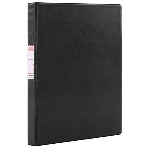 Купить BRAUBERG Папка на 2-х кольцах A4, картон/ПВХ, 35 мм черный, Файлы и папки