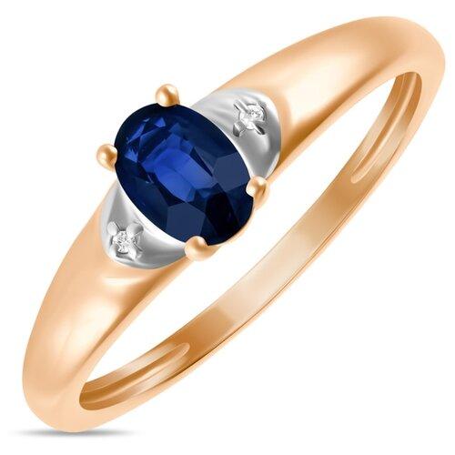 Бронницкий Ювелир Кольцо из красного золота R01-D-L-34293-SA, размер 16.5 кольцо из золота r01 d 68997r001 r