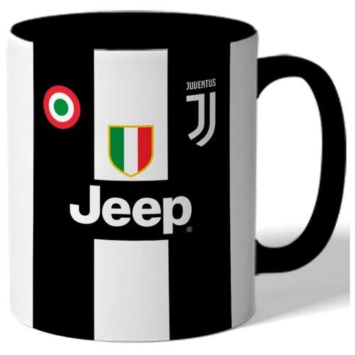Кружка цветная на тему чемпионата мира по футболу 2018, форма - Роналдо, Ювентус (Ronaldo, Juventus)
