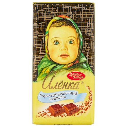 Шоколад Алёнка молочный пористый, 95 г фото