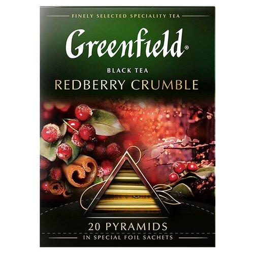Чай черный Greenfield Redberry Crumble в пирамидках, 20 шт. чай черный greenfield sicilian citrus в пирамидках 20 шт
