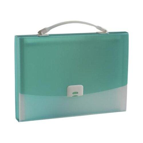Panta Plast Папка-портфель FOCUS А4, 13 отделений зеленый папка портфель без отделений а4 серебряная с черным клапаном