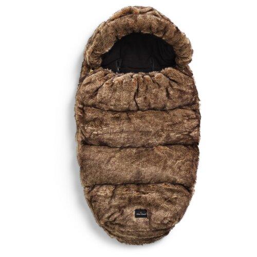 Купить Конверт-мешок Elodie Details зимний из искусственного меха 95 см коричневый, Конверты и спальные мешки