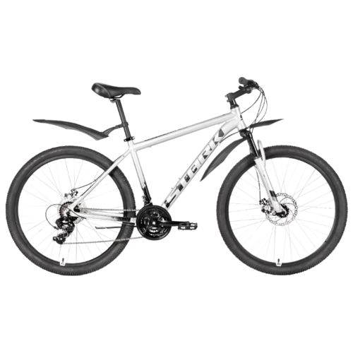 Горный (MTB) велосипед STARK Indy 27.1 D (2020) серебристый/серый/белый 16