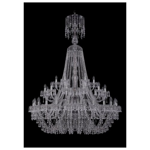 Люстра Bohemia Ivele Crystal 1410 1410/24+12+6/460/XL-175/2d/Ni/V0300, E14, 1680 Вт bohemia ivele crystal 1410 6 160 ni v0300 sh2