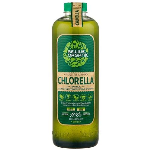 Напиток сокосодержащий Be.Live.Organic Органический бионапиток с живой микроводорослью хлорелла, без сахара, 1 л