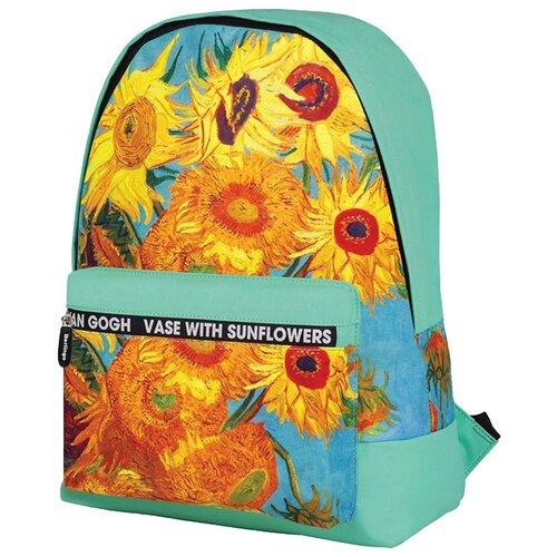 Купить Berlingo рюкзак Art Подсолнухи, бирюзовый, Рюкзаки, ранцы