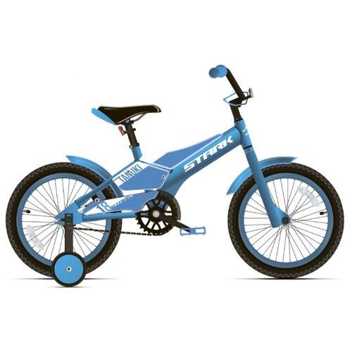 Фото - Детский велосипед STARK Tanuki 18 Boy (2020) голубой/белый (требует финальной сборки) велосипед bulls tokee street 24 boy 2016