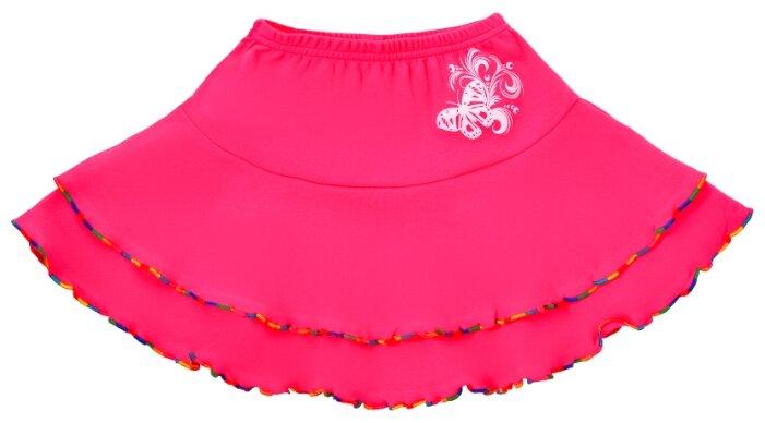 Юбка ДО (Детская одежда) размер 116, клубнично-красный