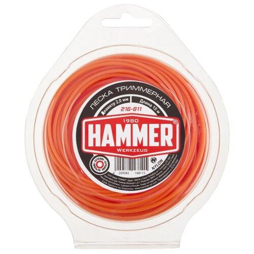 Леска Hammer 216-811 2 мм 15 м hammer 216 804 2 4 мм 15 м