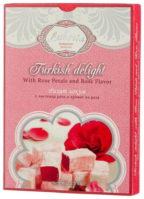 Рахат-лукум Lukeria с лепестками розы и ароматом розы 250 г