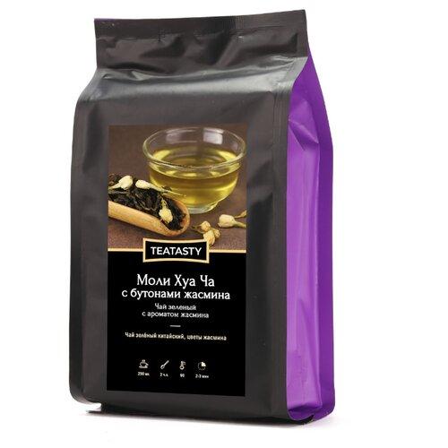 Чай зеленый TEATASTY Моли Хуа Ча с бутонами жасмина , 150 г чай зеленый hayt моли хуа улун жасминовый улун 150 г