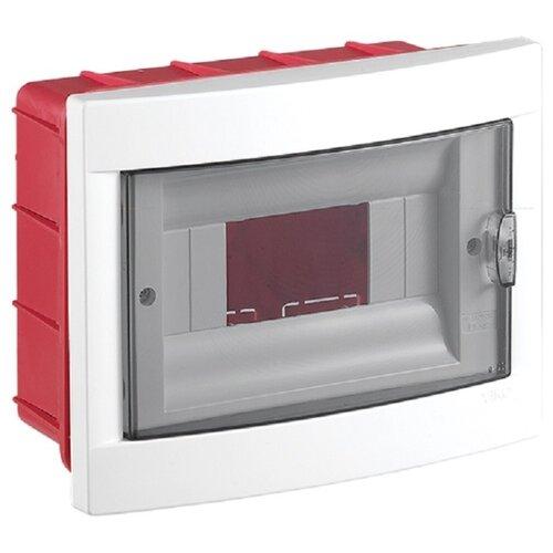 Щит распределительный Viko 90912008 встраиваемый, пластик, модулей 8 белый/красный
