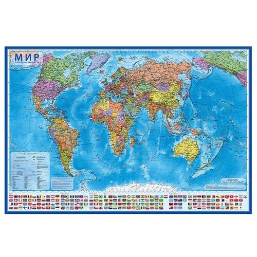 Globen Интерактивная карта Мир Политический 1:32 (КН040)