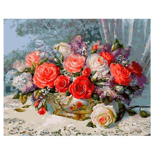 Купить ВанГогВоМне Картина по номерам Букет ярких роз , 40х50 см (ZX 20716), Картины по номерам и контурам
