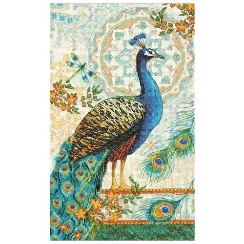 Dimensions Набор для вышивания крестиком Royal Peacock 22,8 х 38,1 см (35339)