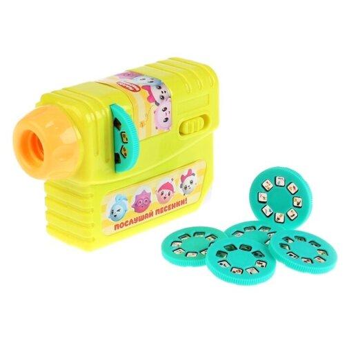 Купить Развивающая игрушка Умка Малышарики. Говорящий проектор (FDE005-R2) желтый/голубой, Развивающие игрушки