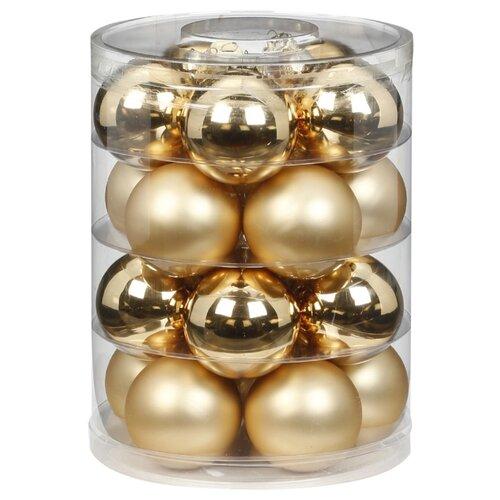 Фото - Набор шаров Inges C106, золотистый, 20 шт. набор стеклянных шаров рождественские сны 60 мм 20 шт
