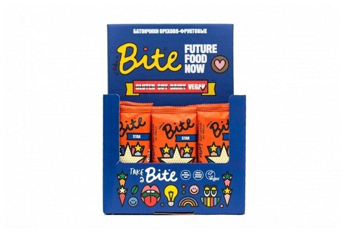 Фруктовый батончик Bite Box Star без сахара Горький шоколад и мускатный орех, 20 шт