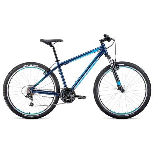 Фото - Горный (MTB) велосипед FORWARD Apache 27.5 1.0 (2020) синий/салатовый 19 (требует финальной сборки) горный mtb велосипед merida matts 7 20 2020 glossy purple lilac s требует финальной сборки