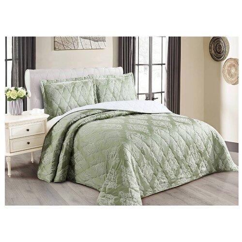 Комплект с покрывалом Cleo Versailles 240х260 см, зеленый комплект с покрывалом cleo gabriella 240х260 см бежево зеленый