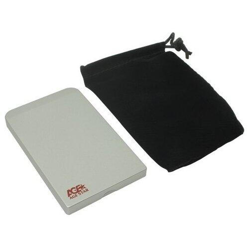 Корпус для HDD/SSD AGESTAR SUB201 серебристый