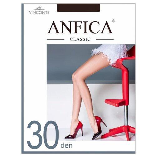 Колготки Anfica Classic 30 den, размер 1/2S, nero (черный) колготки anfica classic 30 den
