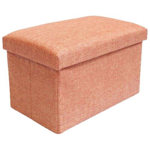 Пуфик с ящиком для хранения Удачная покупка RYP57-40 лен оранжевый
