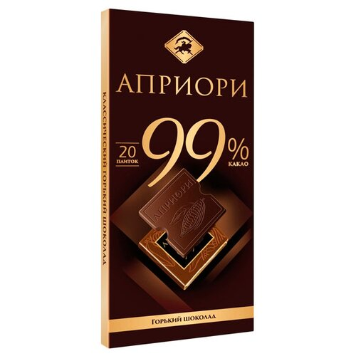 Шоколад Априори горький 99% какао порционный, 100 г