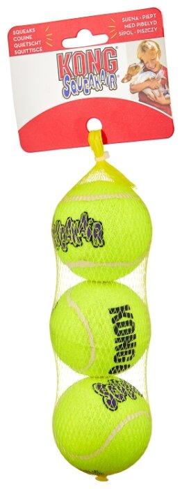 Мячик для собак KONG Air теннисный средний, 3 шт (AST2E)