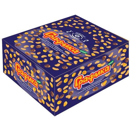 Батончик Невский Кондитер Графика maxi с карамелью, арахисом, хлопьями, изюмом и воздушным рисом, 45 г, коробка (18 шт.)