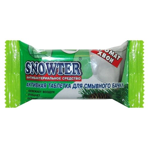 Snowter таблетка для унитаза Хвоя 1 шт. очиститель для унитаза snowter запасной блок хвоя 40 г
