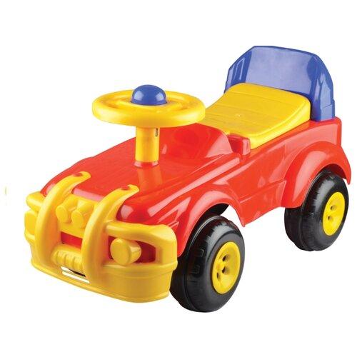 Каталка-игрушка Terides Машинка (Т8-030) красный/желтый каталка chilok bo машинка бентли красный 326