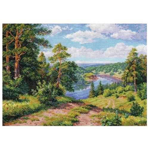 Купить Алиса Набор для вышивания крестиком Над рекой 40 х 30 см (3-13), Наборы для вышивания
