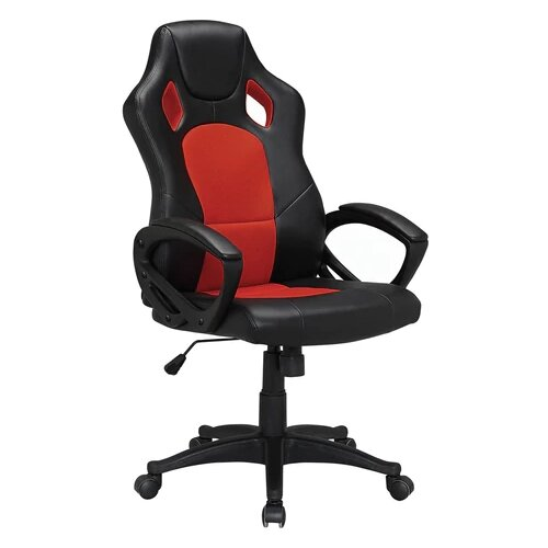 Компьютерное кресло Brabix Rider EX-544 игровое, обивка: текстиль/искусственная кожа, цвет: черный/красный компьютерное кресло brabix nitro gm 001 игровое обивка искусственная кожа цвет черный